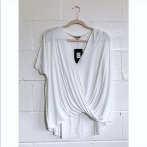 Twisted Short Sleeve Top in White